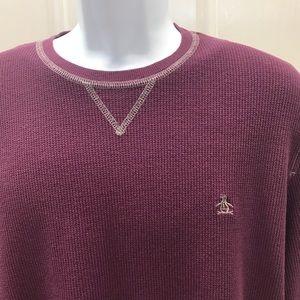 Men's Original PENGUIN Purple Thermal Shirt XL